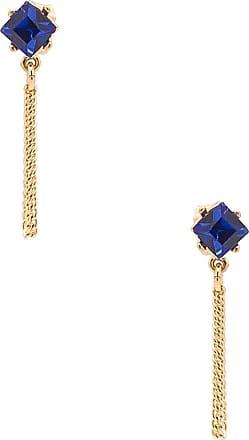 Rebecca Minkoff Stone Chain Loop Stud Earring in Metallic Gold