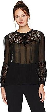 Rebecca Taylor Women's Longsleeve Chiffon Top With Lace