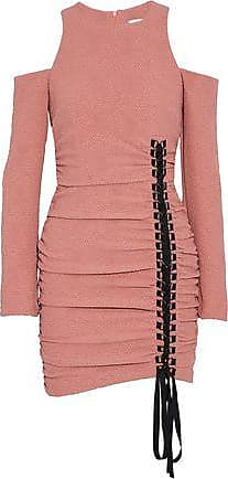 Rebecca Vallance Woman Cutout Gathered Jacquard Mini Dress Baby Pink Size 6 Rebecca Vallance