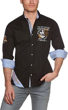 R31603 - Chemise casual - coupe droite - Manches longues - Homme - Noir (Black 012) - FR: taille col - 38 (Taille fabricant: S)Red Bridge