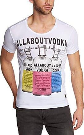 shirt - Col ras du cou - Manches courtes Homme - Blanc - Weiß (White 095) - Xxx-largeRed Bridge