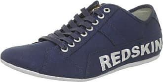 Redskins - Zapatillas de Deporte de Lona Hombre, Azul (Azul (Navy+Beige RG)), 45 EU