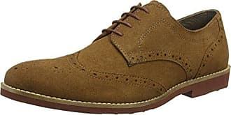 Red Tape Fulshaw, Zapatos de Cordones Brogue para Hombre, Marrón (Tan 0), 43 EU