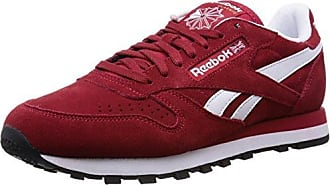 Reebok Herren Classic Leather Clip ELE Low Top Schwarz 45.5 EURot (Flash  Red Merlot 7793bb7f3f