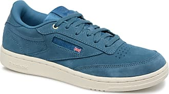 Reebok Club C 85 Estl, Chaussures de Tennis Garçon, Gris (Powder Grey/White/Washed Blue 000), 36.5 EU