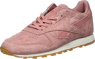 Reebok Classic Leather L Zapatillas Mujer, Varios Colores (Grit-Peach Twist/Sleek Metallic), 38 EU (5 UK)