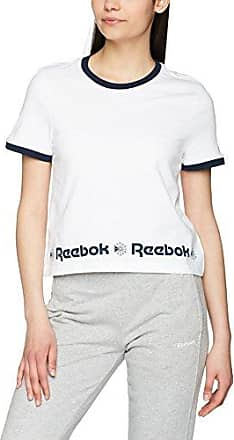 Reebok F Starcrest Hem Gr, Camiseta para Mujer, Negro, Medium (Taglia Produttore M)