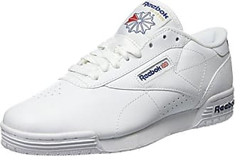 Reebok Exofit LO Clean Logo, Zapatillas de Gimnasia Unisex Adulto, Blanco (INT/White/Royal Blue/Royal Blue INT/White/Royal Blue/Royal Blue), 34.5 EU
