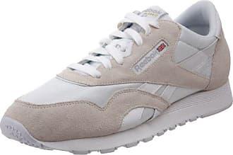 CL LTHR, Sneakers Basses homme, 28412_42 EU_Ecru/Navy, 40.5 EUReebok