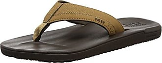 Reef Leather Contoured Cushion Chocolate ciabatte uomo donna flip flop surf