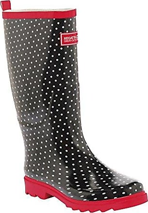 Regatta Great Outdoors Damen Fairweather Gummistiefel (39 EU/UK 6) (Schwarz/Lollipop)