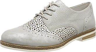 D3808, Zapatos de Cordones Derby para Mujer, Blanco (Adria/Weiss/Weiss), 42 EU Remonte