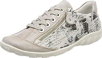 Remonte R1406, Zapatillas para Mujer, Blanco (Reinweiss/Silver), 45 EU