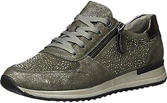 Womens R7008 Low-Top Sneakers, Steel/Asche/Altsilber/42, 5 UK Remonte