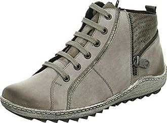 Remonte Damenschuhe R1472 Damen Stiefeletten, Stiefel, Boots grau kombi (grau/altsilber/cigar/schwarz / 42), EU 41