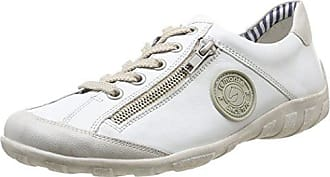 Maruti Nena Leather, Zapatillas para Mujer, Blanco (Metallic Galaxy White ZJ8), 36 EU