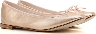 Ballet Flats Ballerina Shoes for Women On Sale, Champagne, Leather, 2017, 4.5 5.5 6 7.5 Repetto