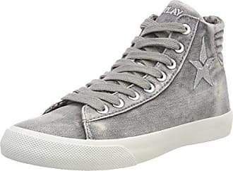 REPLAY Yoha, Baskets Hautes Femme, Gris (Grey), 37 EU