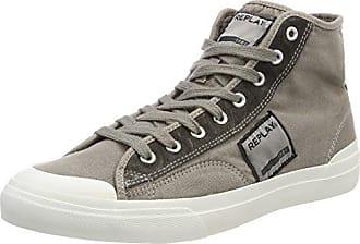 Hutre, Sneaker a Collo Alto Uomo, Nero (Black), 43 EU Replay