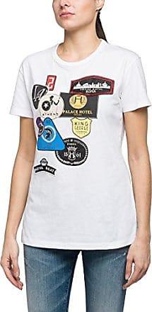 Replay W3959e.000.20994, Camiseta para Mujer, Blanco (Optical White 1), Medium