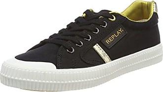 Replay Dayton, Zapatillas para Mujer, Multicolor (Black Gold), 36 EU