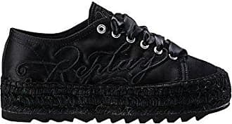 Replay Women's Olivia Lace up Espadrilles Black in Size 37