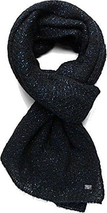 Womens Womens Knit Scarf In Black With Metallic Detailing Replay