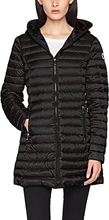 Damen winterjacke mit kapuze im corsage look