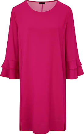 Jersey dress a double flounce at the cuffs Riani bright pink Riani
