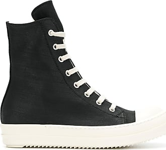 lace-up platform hi tops - Black Rick Owens x adidas