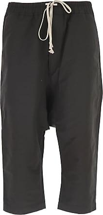 Pantalon Homme Pas cher en Soldes Outlet, Noir, Coton, 2017, LRick Owens