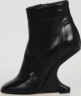 Leather CANTILEVERED Wedges boots Fall/winter Rick Owens