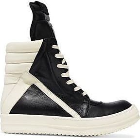 Rick Owens Woman Geobasket Two-tone Leather High-top Sneakers Size 40