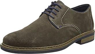 Rieker 10822 - Zapatos con Cordones de Cuero Hombre, Color Negro, Talla 44