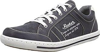 Rieker B8740, Zapatillas para Hombre, Gris (Weiss-Grau/Asphalt), 45 EU