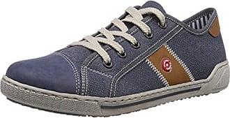 Rieker 42412 - zapatilla deportiva de material sintético mujer, color azul, talla 42