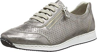Rieker 57745 Women Low-Top, Damen Sneakers, Weiß (ice/fog-silver/grey/champignon/81), 36 EU