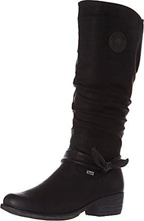Rieker Y9624, Bottes Femme - Gris (fumo/schwarz/steam/grey-black/46), 36 EU