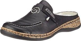 Rieker zoccoli ciabatte pantofola nero 23579 NUOVO