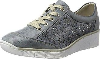 Rieker L59c8, Zapatillas Para Mujer, Azul (Sky/Argento), 38 EU