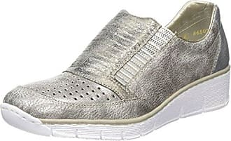 P1 Shot Shot silver - Zapatillas de cuero para mujer, color plateado, talla 38