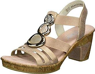 Rieker Damen 69752 Offene Sandalen mit Keilabsatz
