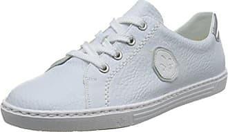 Rieker L0913, Zapatillas Para Mujer, Blanco (Weiss/Argento/Weiss/80), 41 EU