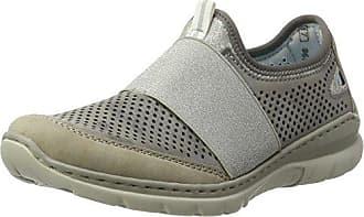 Rieker N5611, Zapatillas para Mujer, Gris (Dust/Pazifik/Nebbia/Staub/Silverflower), 38 EU