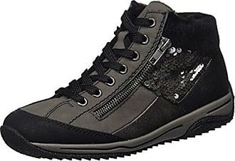 Rieker L3251, Zapatillas Sin Cordones Para Mujer, Negro (Schwarz/Schwarz/Schwarz/Schwarz 00), 41 EU
