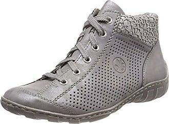 L9435, Baskets Hautes Femme, Gris (Steel/White-Silver), 41 EURieker