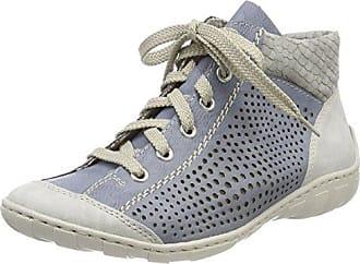 Rieker N5051, Zapatillas para Mujer, Azul (Pazifik/Pazifik/Schwarz), 42 EU