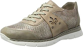 Rieker N4105, Zapatillas para Mujer, Gris (Grau/Jeans), 36 EU
