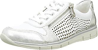 Rieker M6228, Zapatillas para Mujer, Blanco (Ice/Weiss-Silber/80), 41 EU