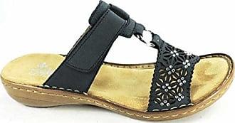 Rieker Damen Pantoletten Blau, Schuhgröße:EUR 37